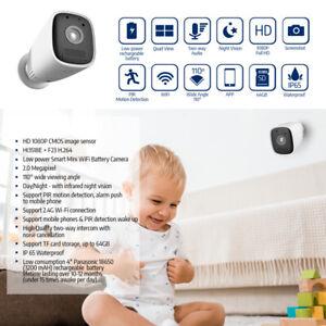 Wireless-HD-1080P-Waterproof-Battery-12800-mAH-IP-Camera-Home-Outdoor-WiFI