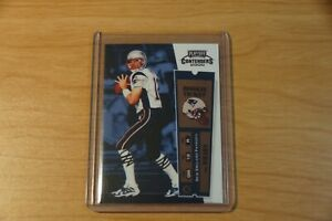Tom Brady Playoff Contenders 2000 Rookie Ticket. Please read the Description.