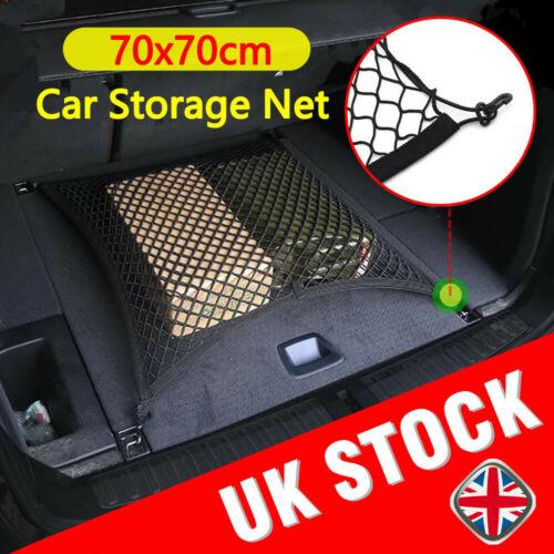 Large Elastic Car Cargo Tidy Net Storage Boot Net Fixing Points Saftey 70 X70cm