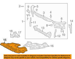image is loading lexus-toyota-oem-is300-under-radiator-engine-cover-