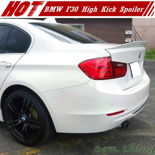 STOCK USA Unpainted BMW F30 F80 M3 3-Series Performance High Kick Trunk Spoiler