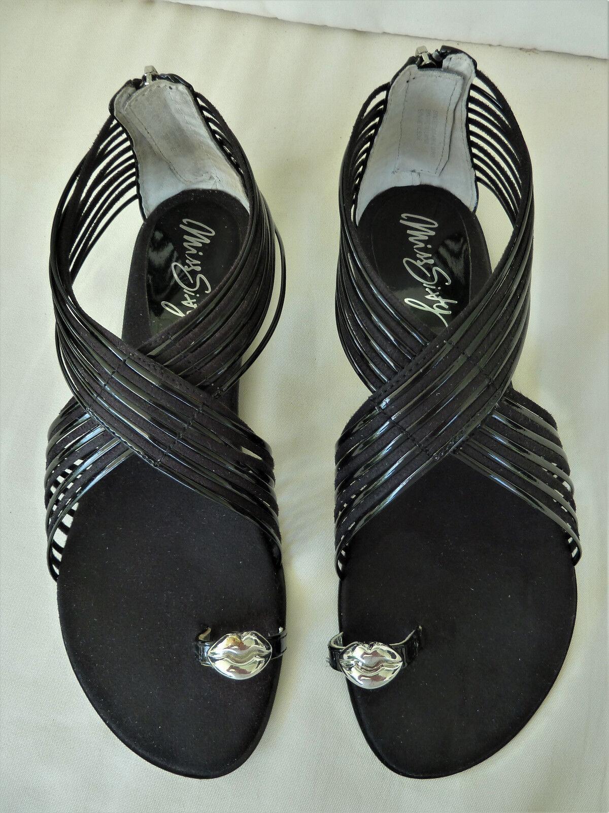MISS SIXTY *** Sandalen *** *** Größe 38 *** schwarz *** Sandalen Echtleder 0ce2e5