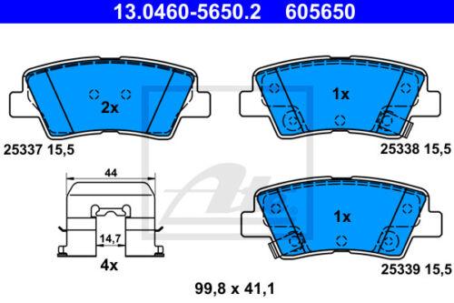 ATE Bremsbelagsatz Hinterachse GD HA 13.0460-5650.2 für HYUNDAI i30 Kombi