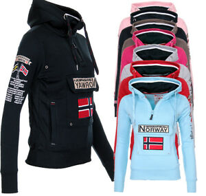 5753a1e451da Details about Geographical Norway Ladies PULLOVR Hoodie Sweatshirt Hooded  Jumper Slip NEW- show original title