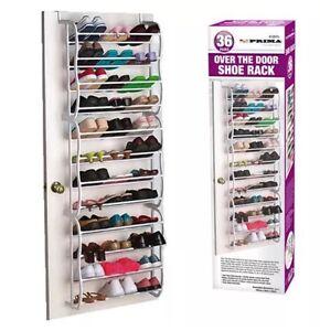 shoe rack over door storage organizer tidy bedroom holder hanger uk seller new ebay. Black Bedroom Furniture Sets. Home Design Ideas