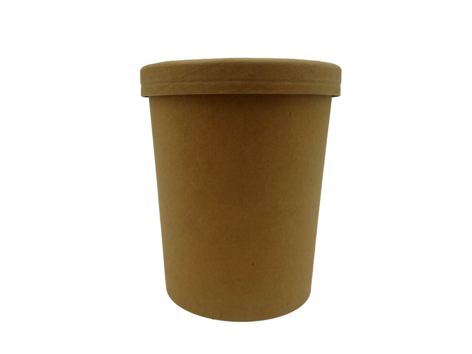 Kraft Paper Eco Look Soup Cup With Vented Lid Takeaway Hot