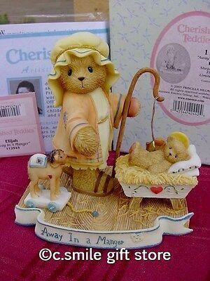 Cherished Teddies *ELIJAH* #112545 2003 Ltd Ed Christmas Songs Enesco MIB Ret