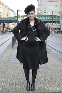 Diskret Damen Pelz Nerz Minkcoat Schwarzbraun Mantel Vison Fur Hopka Manteau Blackbrown Kleidung Pelze
