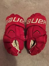 """BAUER APX DETROIT RED WINGS WINTER CLASSIC NHL PRO STOCK HOCKEY GLOVES 14"""""""