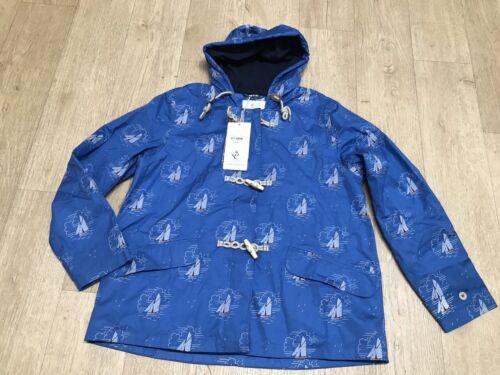 Seasalt Size 12 Tacking Cornish Seafolly Coat Jacket Blue Boat Print BNWT NEW