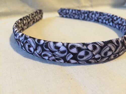Jack Skellington Inspired Print Grosgrain Ribbon Woven Headband 1//2inch headband