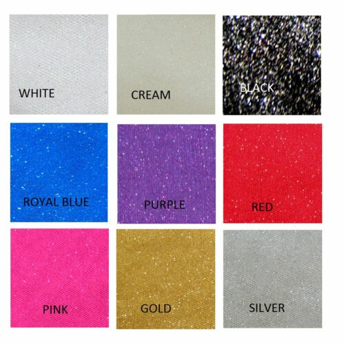 Glitter Net Robe Net Tutu tissu mariage artisanat matériau 150 cm large