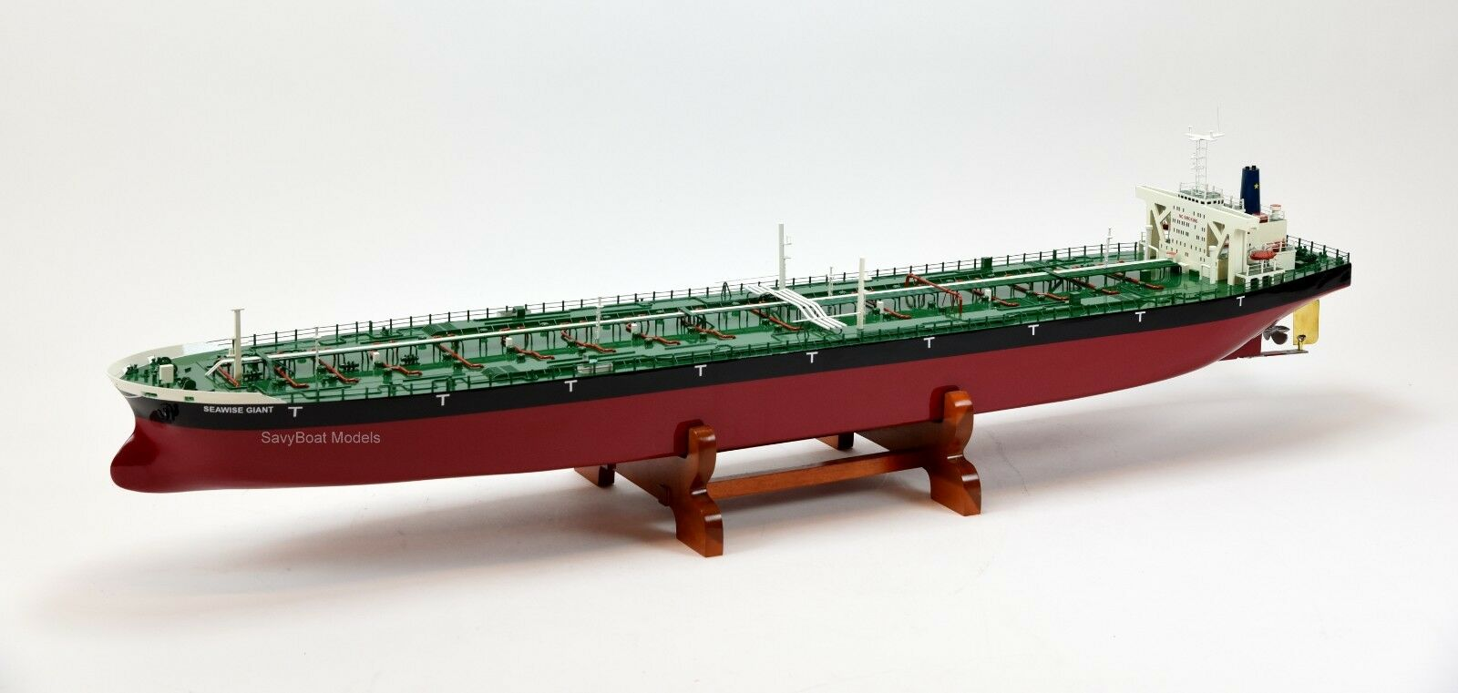 Seawise Giant ULCC Supertanker Wooden Ship Model 51  RC Ready Scale 1 350