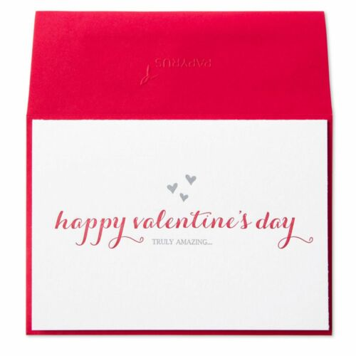 """LETTERPRESS CARD  """"Truly Amazing….that's you!"""" Papyrus Valentine/'s Day Card"""