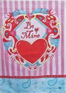 Be-Mine-Valentine-Standard-House-Flag-by-Toland-8048-28-034-x40-034-Valentines