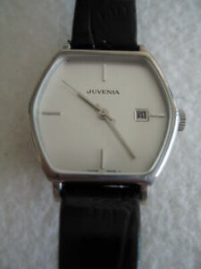 NOS-NEW-VINTAGE-STEEL-AUTO-JUVENIA-SWISS-WATCH-1960-039-S