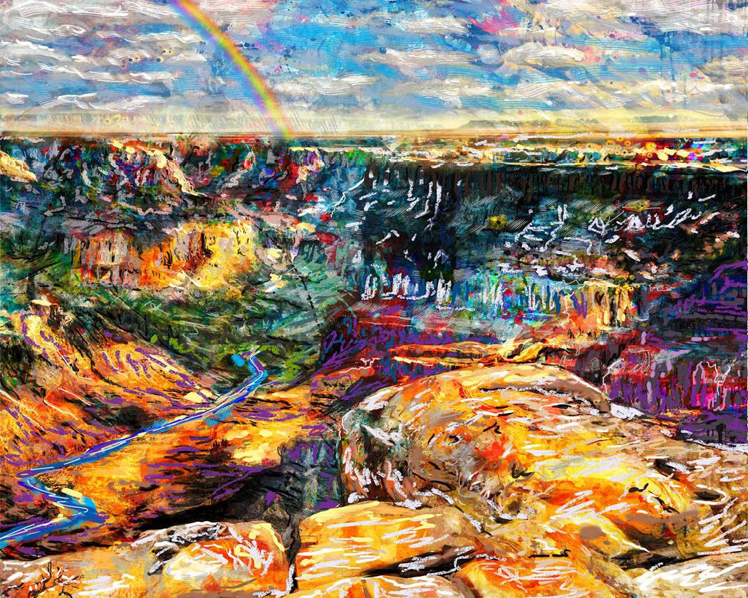 Grand Canyon Art, Nature Canvas, Arizona Painting, Landscape Artwork