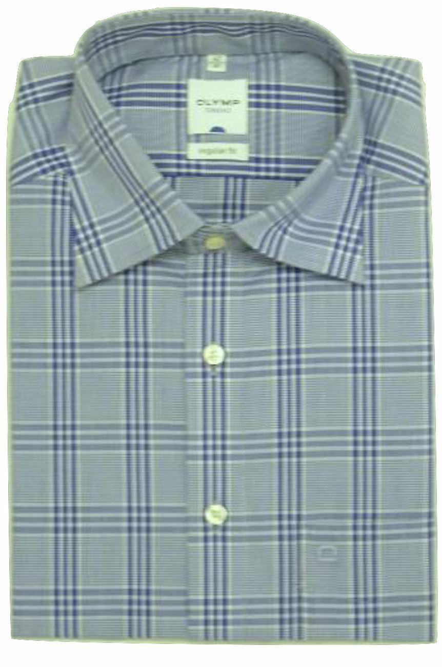 Purple Bold Check Spread Collar