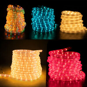 Blue Tubed LED Rope Light 20ft 2-Wire Accent Christmas Decorations UL Certified