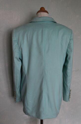 Jacke 80er 40 Vintage Blazer Edel Warm Schick Blau Super Weich Türkis Escada L pFa6OBq