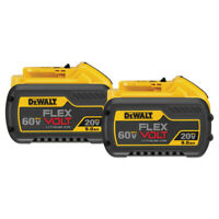 Deals on 2-pack DEWALT DCB6092 20V/60V MAX FLEXVOLT 9Ah Li-Ion Battery