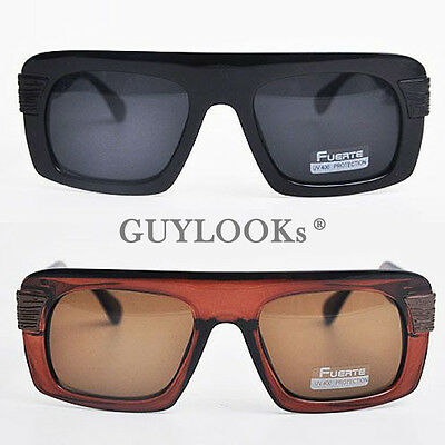 Retro Mod Mens Oversize Bold Acetate Square Frame Sunglasses W Case By Guylook