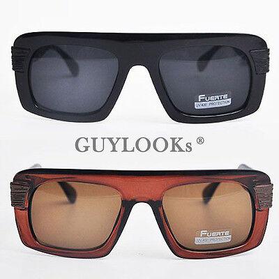 Retro Mod Mens Oversize Bold Acetate Square Frame Sunglasses W Case By Guylook