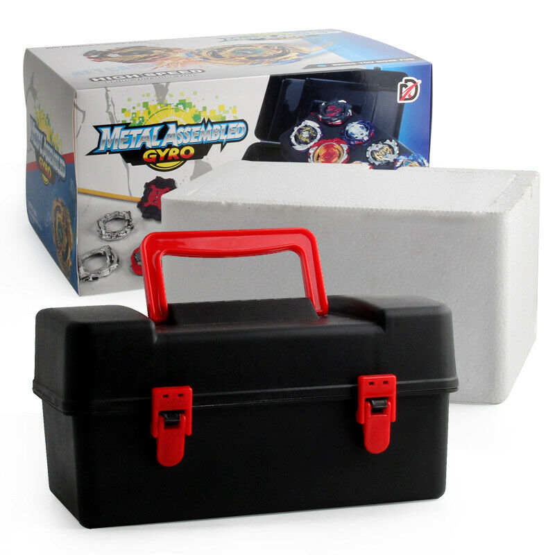 12PCS Beyblade Burst Set Spinning mit Grip Launcher Portable Lagerung Box Fall
