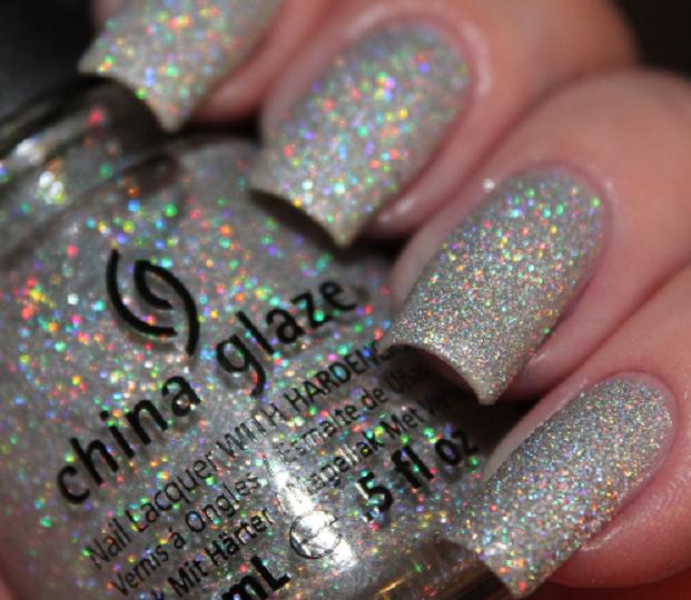China Glaze Limited Edition Rare Holo Glitter Polish Glistening Snow Ships Free