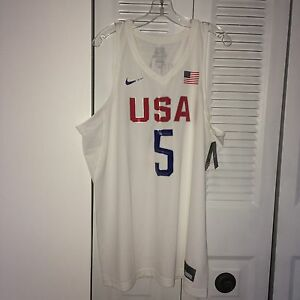 huge selection of 50ee6 8a653 Details about Nike Team USA Basketball Kevin Durant Jersey #5 Rio Olympics  Sz XL-XXL