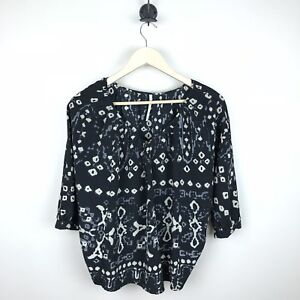 Vincent Med Button Twelfth Print Blouse Cynthia By Women's Street Abstract Top qwapUtg