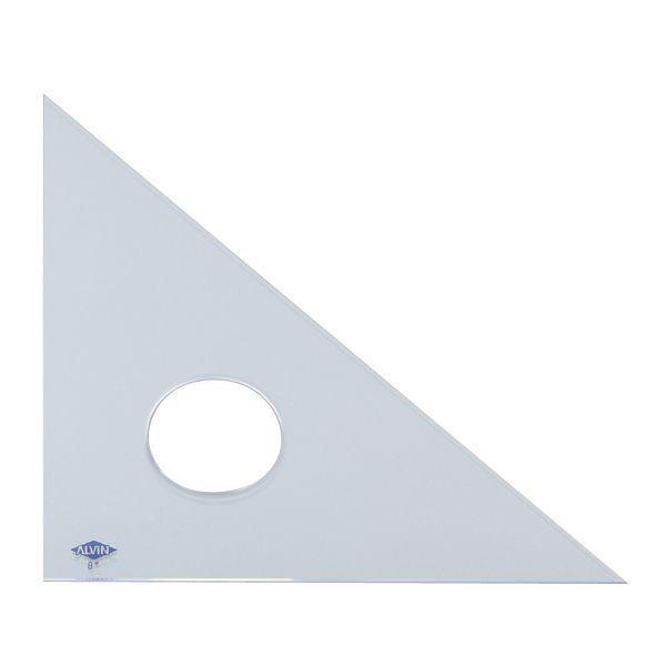 "Alvin® 12"" Clear Professional Acrylic Triangle 45°/90° ALV-131C-12"
