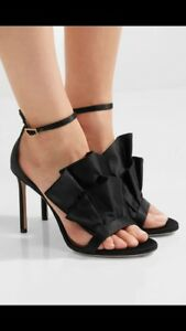 Toes Black Uk Open 7 Kami Stunning 40 Heels Choo Jimmy wTP0AA
