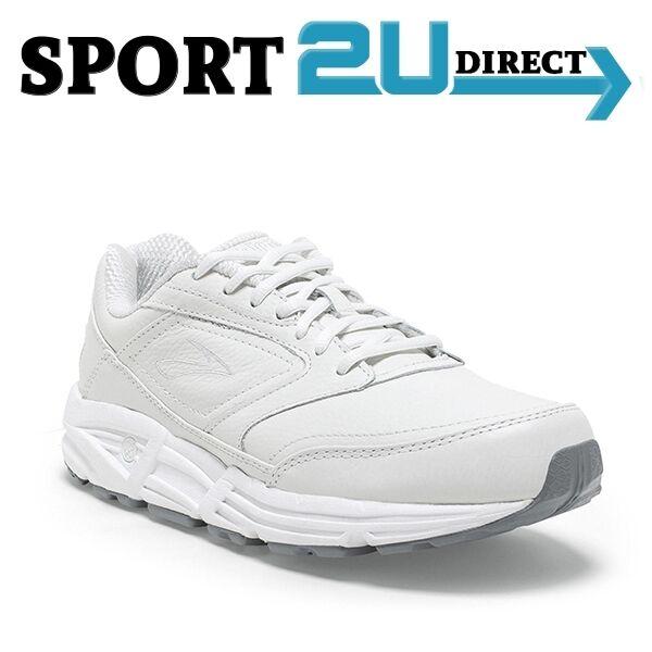 968100a7d2d Brooks Addiction Walker Womens US Size 7 White Leather Walking Shoes UK 5