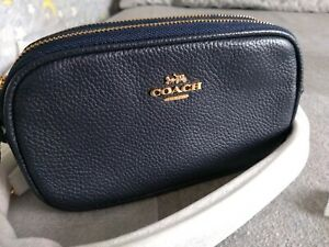 Coach-Small-Crossbody-Bag-in-Navy-Blue-Pebbled-Leather-Brand-New-with-Tags