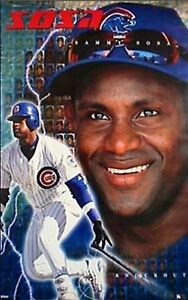 New-Costacos-MLB-Chicago-Cubs-Sammy-Sosa-Knockout-Wall-Poster-22-5-x-35