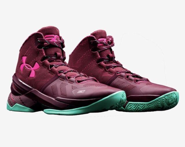 buy online 17abc 0030a Under Armour Curry 2 BHM Size 11 Mens 1259007-602 Maroon Basketball Shoes