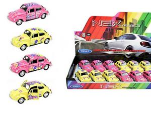 VW-Kaefer-Beetle-Modellauto-Auto-LIZENZPRODUKT-Massstab-1-34-1-39