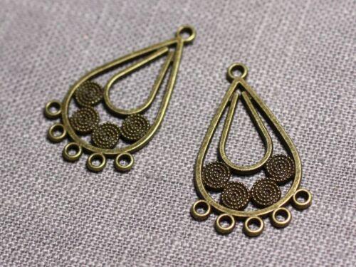10pc Connecteurs Pendentifs Boucles d/'oreilles Métal Bronze Gouttes Ethniques