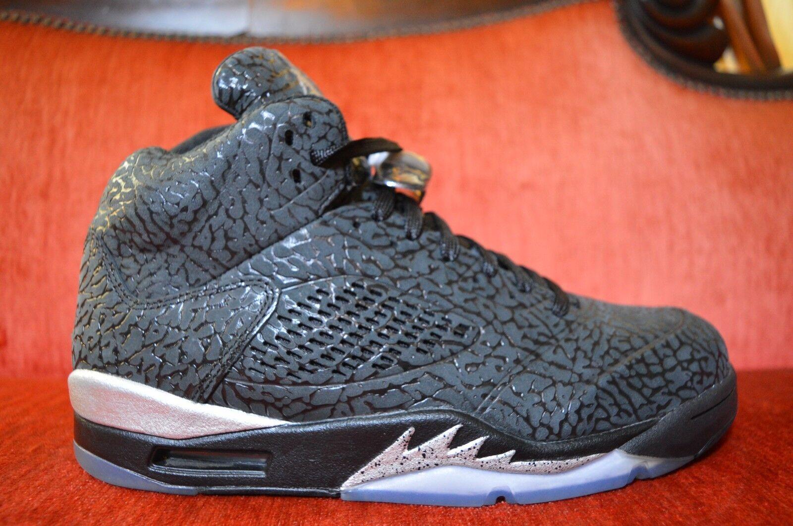 Nike Air Jordan 5 Retro 3Lab5 Black Elephant Silver V Size 9.5 2014 599581-003