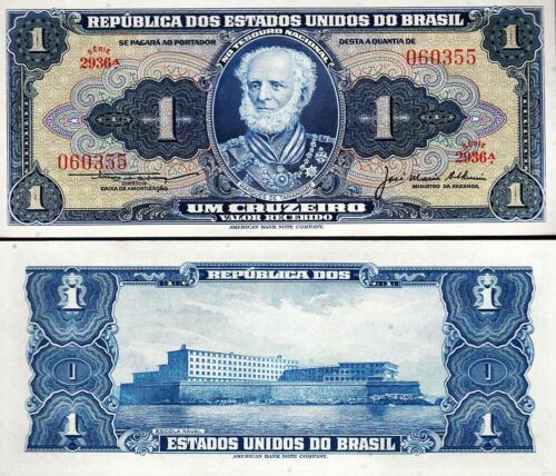 BRAZIL 1 CRUZEIRO 1954-1958 UNC 20 PCS LOT P.150c SIGN 5