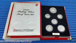 1988-Singapore-Sterling-Silver-Proof-Coin-Set-1-1-Coin
