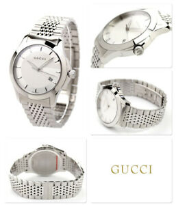 a9554964fc3 Gucci YA126401 G-Timeless Silver Dial Stainless Steel Bracelet Mens ...
