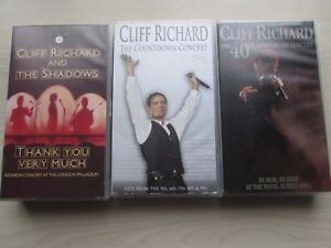 3-X-CLIFF-RICHARD-VHS-VIDEOS-V-G-C