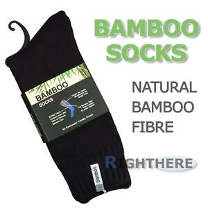 NEW-3-PAIRS-BAMBOO-HEAVY-DUTY-WORK-SOCKS-MENS-THICK-BLACK-6-11-11-14-KING-SIZE