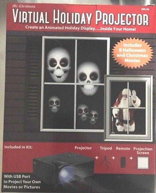 New Remote Virtual Christmas Halloween Projector Kit Animated  USB Port Gift