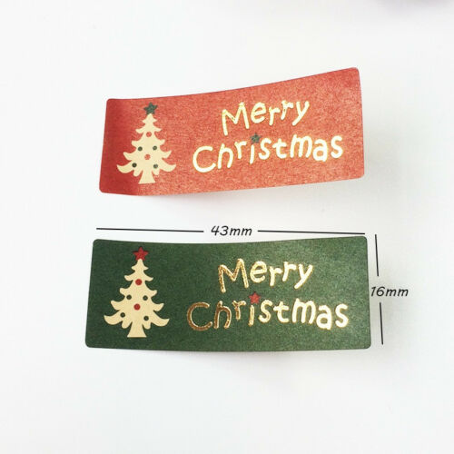 100PCS Vintage Merry Christmas DIY Multifunction Gilding Seal Sticker G