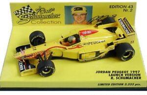 Minichamps-1992-2002-Jordan-ejr-F1-Modelo-coches-de-carrera-Schumacher-Sato-Modena-1-43