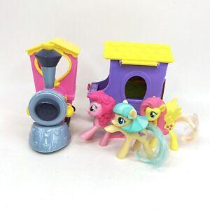 My Little Pony Pink Purple Train Car Friendship is Magic Hasbro 2015 Lot of 5
