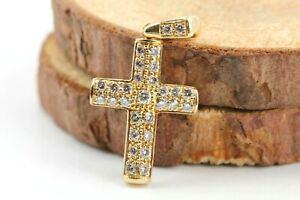 Diamant-Gold-Kreuz-Anhaenger-750-18K-ca-0-58ct-VS1-H-29-Brillanten-Laenge-22-9mm